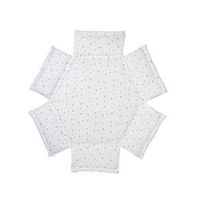 Schardt 132150000 1/679 Playpen Insert Hexagonal Stars Design Grey