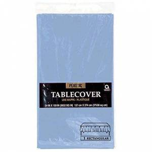 amscan Light Blue Rectangular Plastic Tablecover 1.37m x 2.74m-1 Pc