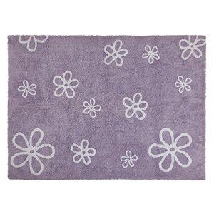 Happy Decor Kids Washable Rug (120 x 160 cm, Purple, Flowers)