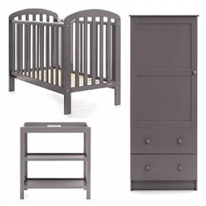 Obaby Lily 3 Piece Nursery Furniture Set - Taupe Grey