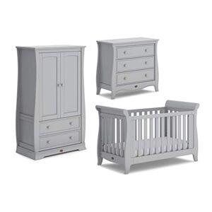 Boori Sleigh Expandable 3 Piece Nursery Room Set, Wood, Pebble