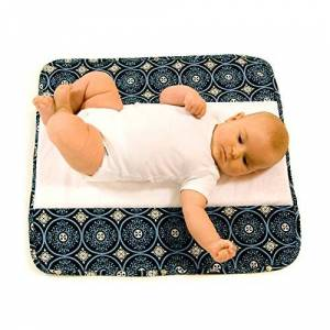 Ah Goo Baby The Plush Pad Portable Changing Mat with Memory Foam - Best Travel or Lounge Mat for Baby - Blueberry