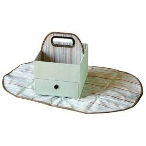 Pinpoxe Diapers & Wipes Caddy (Green Stripe)