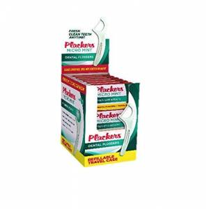 Plackers Micro Mint Flossers Travel Case, Pack of 12 Cases