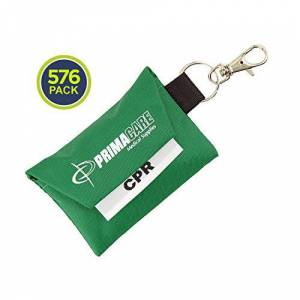 Primacare CSRS-8631 Waterproof CPR Shield/Barrier Keyring Pouch, Pack of 576