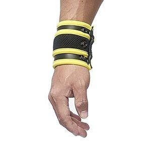Mister B Neoprene Wrist Wallet, Black/Yellow