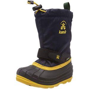 Kamik Unisex Kids' Waterbug8g Snow Boots, Blue (Navy/Citrus Nav), 7.5 (8 US)