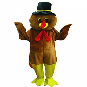 Dress Up America Adult Thanksgiving Turkey Mascot Costume Set