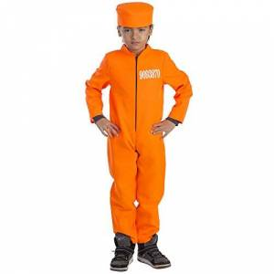 Dress Up America Kid's Prisoner Costume