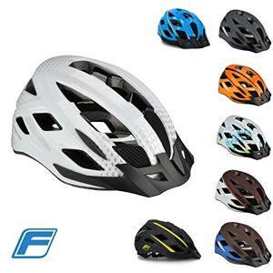 Fischer Unisex_Adult Urban Bicycle Helmet, LANO White, S/M 55-59