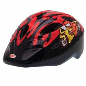 BELL Dart Children's Cycling Helmet Multi-Coloured Red Moto Gp Flame Size:S (50-54 cm)