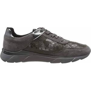 Geox Women's D Hiver A Low-Top Sneakers, Grey (Dk Grey C9002), 4 UK