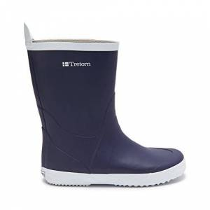 Tretorn Unisex Adults' Wings Unlined rubber boots short length Blue Size: 12 UK
