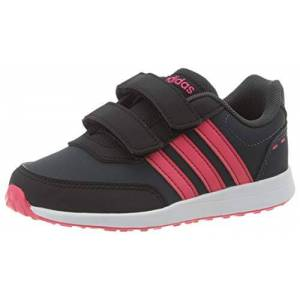 adidas Unisex Kids' Vs Switch 2 CMF C Competition Running Shoes, Multicolour (Carbon/Rossen/FTW Bla 000), 12.5 UK