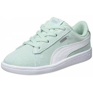 Puma Vikky AC Inf, Baby Girls' Low-Top Sneakers Low-Top Sneakers, Green (Fair Aqua-Puma White), 7 UK (24 EU)