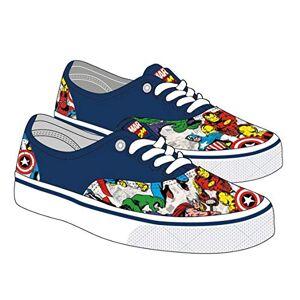 Cerdá Boys' Zapatilla Loneta Vulcanizada Avengers Sneaker, Blue C04, 14 UK