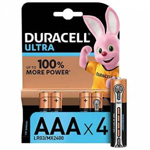 Duracell Ultra Power Type AAA Alkaline Batteries, Pack of 4