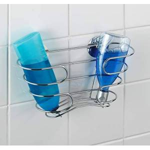 WENKO 21413100 Turbo-Loc shampoo-rack - fixing without drilling, Stainless steel, 29.5 x 17 x 10 cm, Chrome