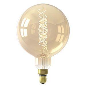 CALEX LED Dimmable 2100k Filament Flex Megaglobe E27 Lamp Gold Blown Handmade 4W 200 Lumens 15,000 Hours