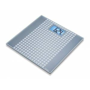 Beurer GS 206 Squares Glass Scale, Grey