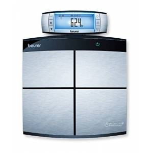 Beurer BF105 Pro Connect Full Body Diagnostic Bathroom Scales, Silver/Black