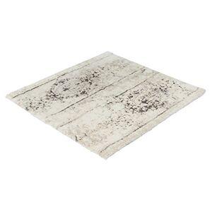 Kleine Wolke Caracas Bath Mat, Cotton, Silver-Grey, 60 x 60 cm