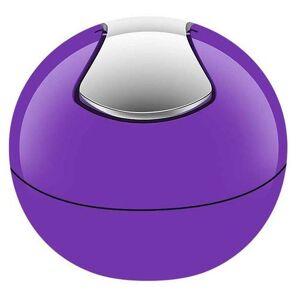 Spirella 10.14968 cosmetics bin 1 litre waste bin swing lid bin table waste bin bowl purple