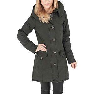 Urban Classics Women's Jacke Garment Washed Long Parka Jacket, Green (Olive), (size: X-Small)