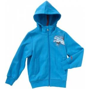 Puma Indi Children's Tracksuit Top Hooded blue blithe blue Size:9 years