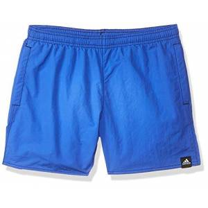 Adidas Boy's Solid Swim Shorts - Hi-Res Blue, Size 11 - 12Y