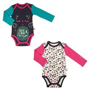 Petit Béguin Set of 2Bodies Baby Girl Long Sleeve Wish-24Months (92cm Waist)