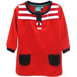 Little Green Radicals organic Fairtrade cotton Nautical Dress  (Red & White Stripe, 5-6 Years)