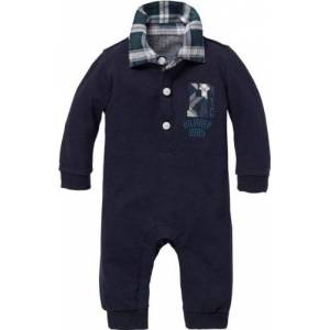 Tommy Hilfiger Aidan Baby Coverall Long Sleeve All-in-One (Core Navy, 0-3 Months)