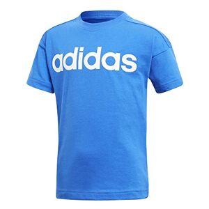 Adidas Kids Linear T-Shirt - Blue/White, Size 6 - 7Y