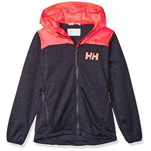 Helly Hansen Jr Hybrid Midlayer Jacket, Children, 41618, Multicolour (Blue Dark/Orange), 12 años (Tamaño del fabricante:12)