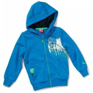 Puma Boys' Hooded Sweatshirt with Graphic blue blue danube Size:104
