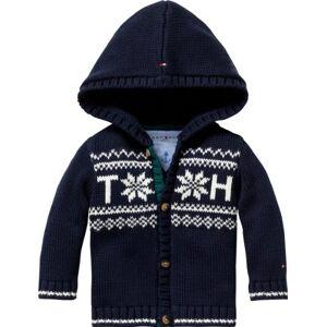 Tommy Hilfiger Fairisle Baby Boy Long Sleeve Cardigan (Core Navy, 3-6 Months)