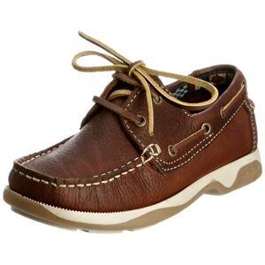 Chatham Skipper Unisex Child Boat Shoes, Brown, 10 Child UK(28 EU)