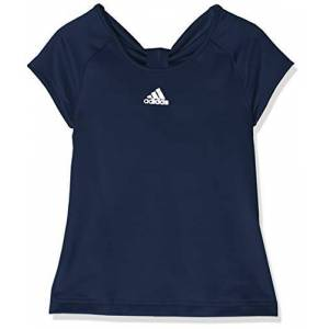 adidas Ribbon Girls' T-Shirt, Girls, T-Shirt, DU2471, Collegiate Navy, 140 (EU)