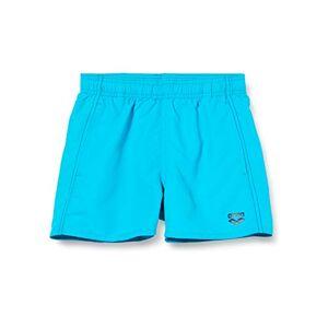 Arena Men's Bañador Fundamentals Solid Boxer Swim Briefs, Turquoise/Navy, 8/9 Años