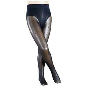 FALKE Kids Romantic Dot tights, 1 pair, UK size 5.5-8 (EU 152-164), Blue, polyamide mix - Sheer tights, comfortable soft flat seam