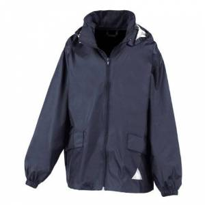 Result RE92J Windcheater in Bag, Navy, Small/Size 5/6