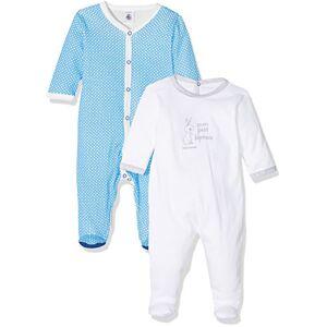 Petit Bateau 1231799460Soft Sleep Well Baby Side 1Plain 1PrintedPack of 2