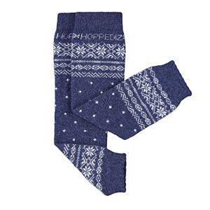 Hoppediz Cashmere/Merino Wool Baby Leg Warmers (Norwegian Blue)