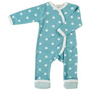 Pigeon - Organics for Kids pigeon-organics for Kids Onesie Pyjamas Romper Long Spotty Blue 0M