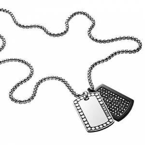 Diesel Men Stainless Steel Pendant Necklace - DX1169040
