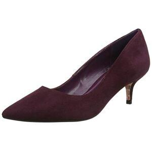 Dune Women's Alesandra Closed Toe Heels, Red (Berry Berry), 5 UK 38 EU