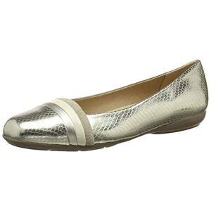 Geox Women D Annytah A Ballet Flats, Gold (Gold/Cream C2268), 4 UK