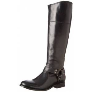 FRYE Women's Melissa Harness Inside Zip Black Soft Vintage Leather Boot 7 B - Medium