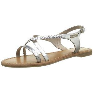 Les Tropéziennes par M. Belarbi Hanano, Women's Sling Back   Sandals, Silver (Argent), 3.5 UK (37 EU)